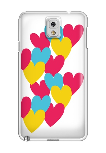 Wonder Cover multi Hearts Hard Case for Samsung Galaxy Note 3 WO617AC60GQTPH_1