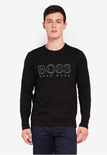 BOSS 黑色 LOGO印花T恤 F74FEAA60E91EDGS_1
