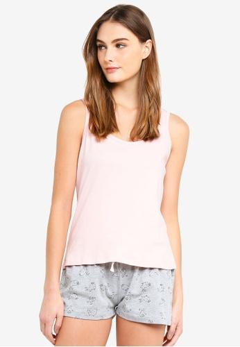Dorothy Perkins pink Grey Bunny Shortie In A Bag E84AAAA3DE5C1DGS_1