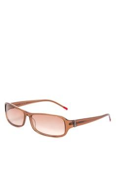c0f2a8cf5e7e Levi's brown Full Rim Plastic Frame Rectangle Sunglasses [ LV52001157 ]  LE892GL84JHBPH_1
