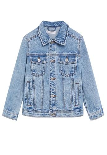 MANGO KIDS blue Denim Cotton Jacket A328AKA25DDF53GS_1