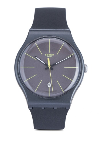 Swatch black Charcolazing Watch CFB95AC243A16CGS_1