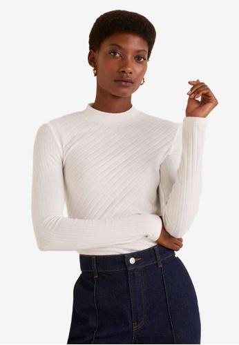 d87005b879608 Shop MANGO Ribbed High Neck Sweater Online on ZALORA Philippines