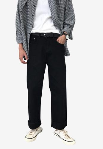 hk-ehunter black Men Relax Fit Black Jeans D2322AAE55FD46GS_1