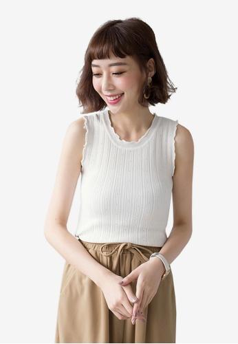 Tokichoi white Sleeveless Knit Top 47AF8AA6742FD1GS_1
