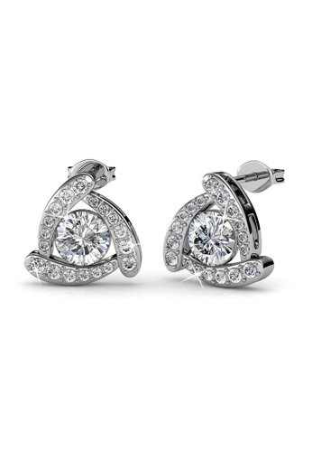 Her Jewellery silver Tri Galaxy Earrings - Licensed Genuine Crystals from Swarovski® HE581AC0RVGQMY_1