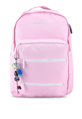 Bagstationz pink Laptop Backpack 00091AC37DF59FGS_1