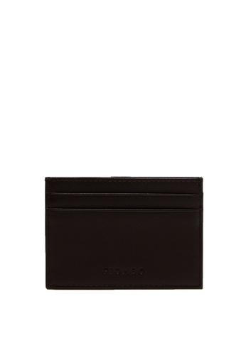 OVS brown Piombo Genuine Leather Card Holder 9C28BAC439542FGS_1