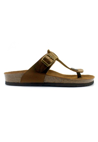 SoleSimple brown Copenhagen - Camel Leather Sandals & Flip Flops A4074SHEA2DA61GS_1