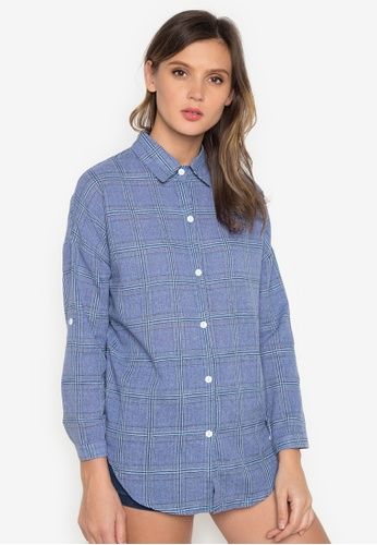 Chase Fashion blue Plaid Flannel Shirt CH547US0K372PH_1