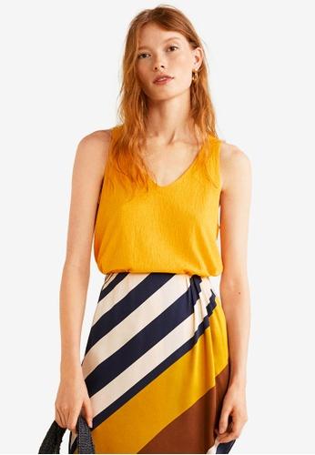 Mango yellow Textured Top 22D29AA2B0926AGS_1