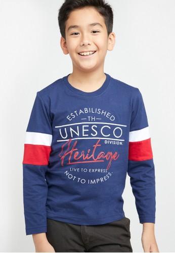 Woffi navy Kaos Anak UNESCO T-Shirt Woffi 66942KA45CE50AGS_1