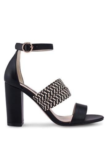 ZALORA black Single Strap Detail Heels 59500SHA5665C7GS_1