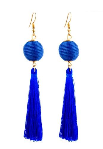 BELLE LIZ blue Blue Ball Tassel Gorgeous Earrings 284E8AC14B9094GS_1