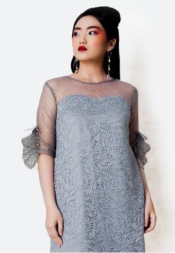 ESYE grey Ariana Lace Dress Grey D6D8FAA6A5C519GS_1