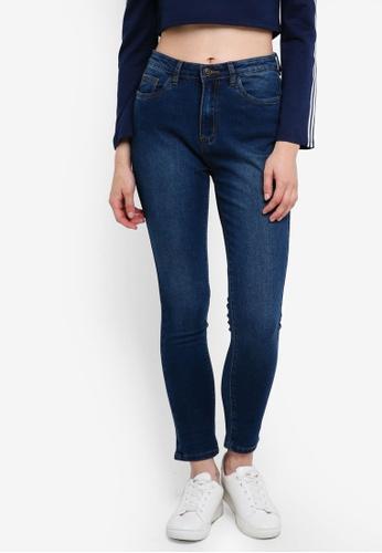 Something Borrowed blue Distressed Skinny Jeans 47EC9AA80FABA2GS_1