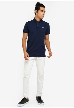 531cd2297 11% OFF Hollister Heritage Solid Polo Shirt S  48.00 NOW S  42.90 Sizes XS  S M L XL