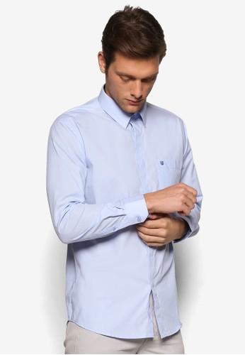 標準尖角領長袖襯衫, 服飾,esprit 台中 服飾