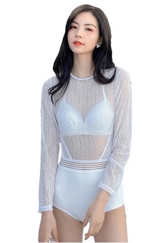 A-IN GIRLS white (2PCS) Sexy Lace One-Piece Bikini Swimsuit BAC04USA4217EBGS_1