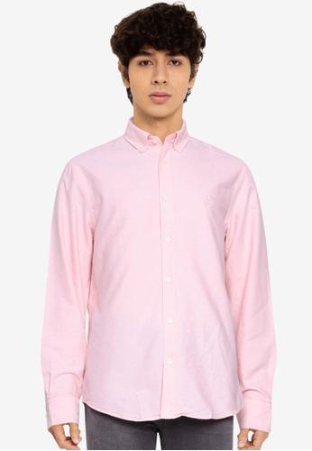 Aeropostale pink Plain Oxford Shirt 71A62AAC42099FGS_1