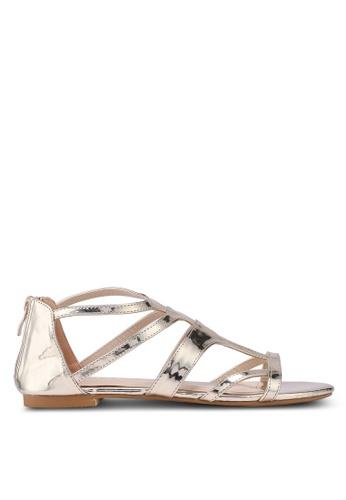 ZALORA gold Gladiator Sandals 17DC8SH71DA10EGS_1