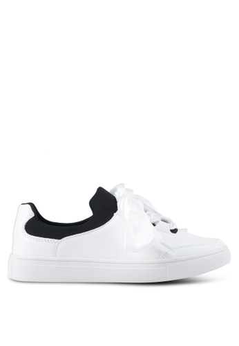 addicts anonymous white Madison Satin Ribbon Classic Sneakers AD479SH0SR5TMY_1