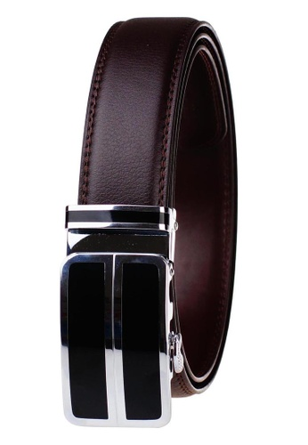 FANYU silver Leather Dress Belt With Automatic Buckle belt FD53BACFD410F1GS_1