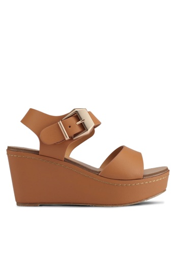 VINCCI brown Strappy Wedges BE8F7SH85A47BBGS_1