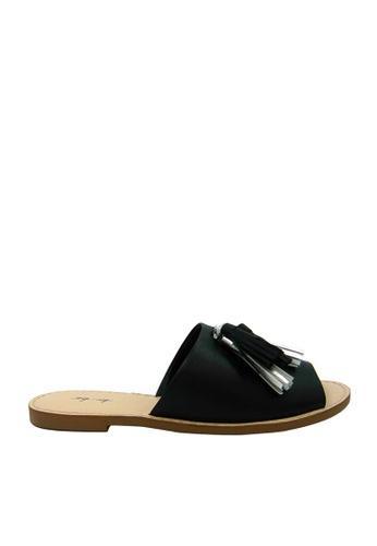 eq:iq black eqLINDSAY Flat Mules with Tassels EQ351SH0FJDNSG_1