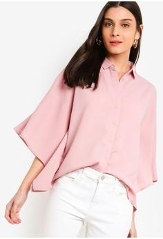 8091f103f3e0e ZALORA pink Craftan Shirt 05E3EAADA6A6B2GS 1