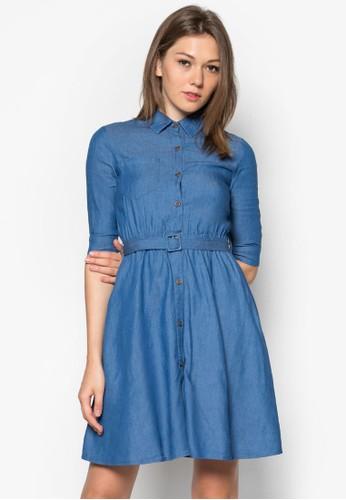 丹寧襯衫式洋裝, 服zalora taiwan 時尚購物網鞋子飾, 服飾