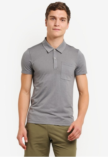 The North Face grey TNF M S/S RENEGADE POLO - AP ZINC GREY HEATHER TH879AA0FM69SG_1