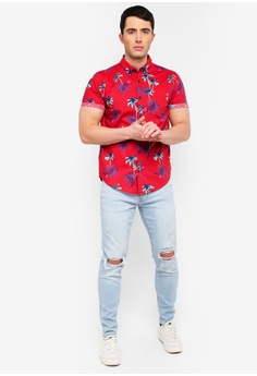 fc415de1bde 47% OFF Hollister Short Sleeve Slim Fit Poplin Shirt S  58.00 NOW S  30.90  Sizes XS S M L XL