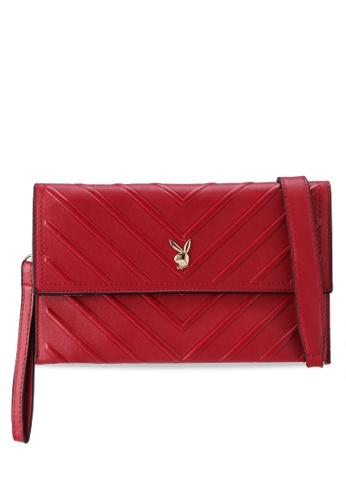 PLAYBOY BUNNY red Ladies Clutch/Sling Bag 76CC9AC1B7D2EEGS_1