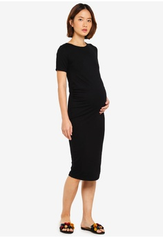 13eb6ba462b7 31% OFF Dorothy Perkins Maternity Black Short Sleeve Bodycon Dress RM  129.00 NOW RM 88.90 Sizes 6