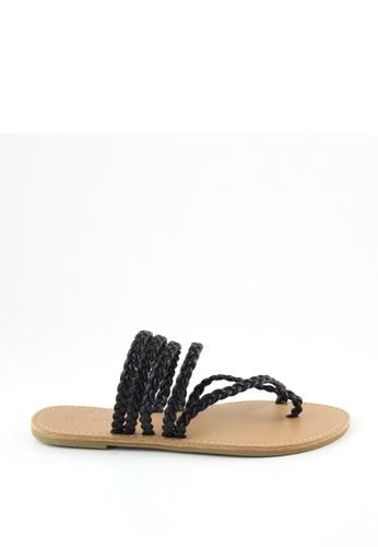 London Rag 黑色 London Rag 女士夏季条带平底凉鞋 A0D3DSH4D08A9DGS_1