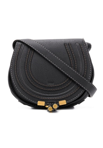 Chloe black Chloe Mini Marcie Crossbody Bag in Black DBFCAACD43076BGS_1
