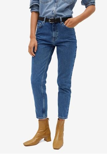 Mango blue Mom-Fit Jeans 472C4AAD9D4863GS_1