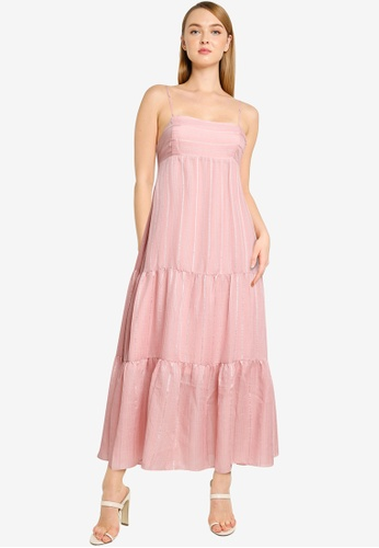 Forever New pink Faith Tiered Maxi Dress B0B59AA39E02F2GS_1