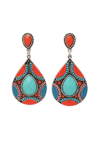 Jaysa Collection orange Tangerine Tango Earrings JA875AC0EZFMSG_1