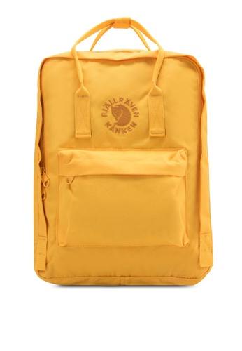 Fjallraven Kanken yellow Sunflower Yellow Re-Kanken Backpack FJ382AC96ZNFMY_1