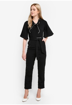 Beatrice Piping Jumpsuit