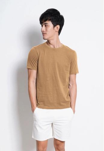 Hi Style Plain Short Sleeve Tee C6BD1AA2C188B3GS_1