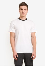 ZALORA white Contrast Crew Neck Short Sleeve Tee A23D2AA836B7C3GS_1