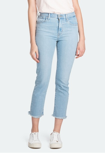 Levi's 724 High Rise Straight Cropped Jeans Women 58825 0014