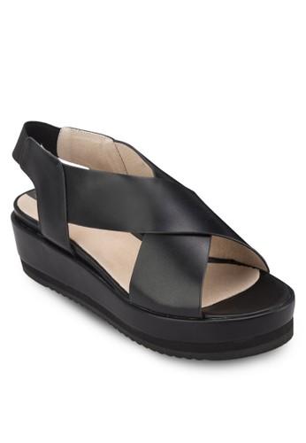 交叉繞踝楔形涼鞋esprit地址, 女鞋, 鞋