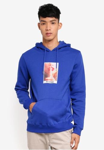 Cotton On blue Fleece Pullover Hoodie 3B346AAEAB0958GS_1
