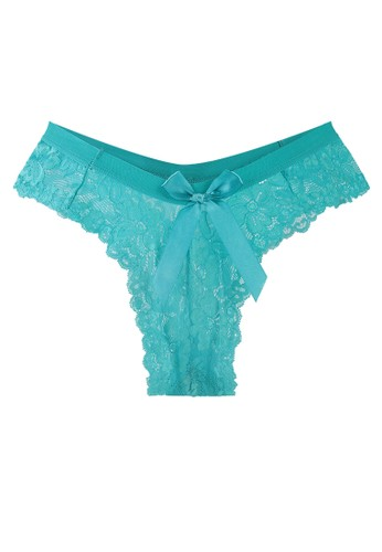 LAVABRA Intimates green Very Sexy Panty - Claudette Comfy Sexy Lace Thong LA387US62SLPID_1