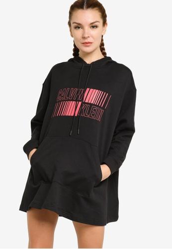 Calvin Klein black Utility Strong Hooded Dress 875B7AA4C4D594GS_1
