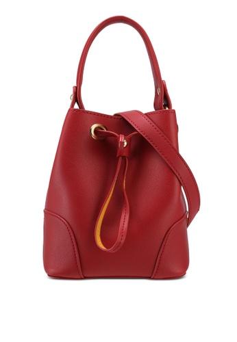 ZALORA red Mini Bucket Bag 0950CACFE23BCEGS_1